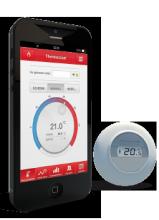 Honeywell Round kamerthermostaat + Intergas Incomfort
